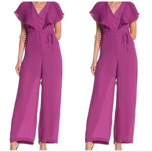 Free Press Purple Rosea Womens Jumpsuit